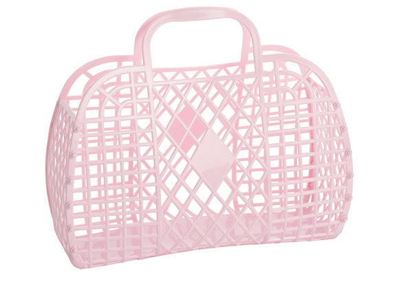 Sun Jellies Retro Basket Bag - Large Pink