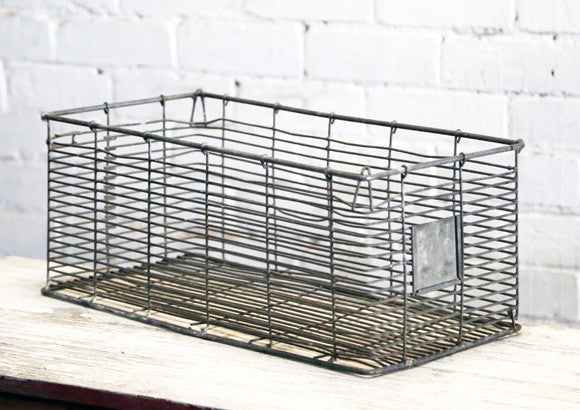 Rustic Wire Crate
