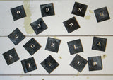 Vintage Metal Letter Stencils - Small