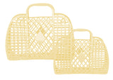 Sun Jellies Retro Basket Bag - Small Yellow