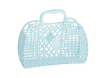 Sun Jellies Retro Basket Bag - Small Blue