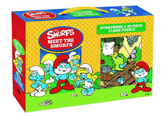 The Smurfs Storybook & Floor Puzzle