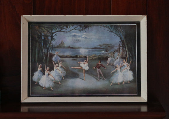 Vintage 1950's Ballerina Framed Print - Medium