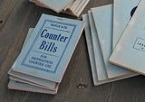 Vintage Counter Bills Invoice Books