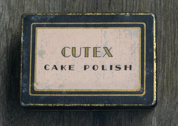 Vintage Cutex Cake Polish Tin