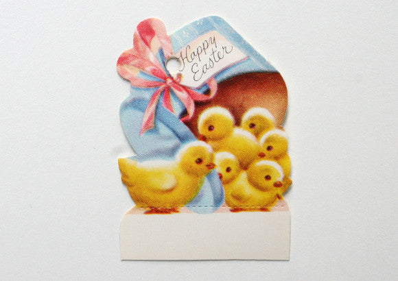 Vintage Happy Easter Card Gift Tag