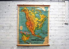 Vintage School Map - North America