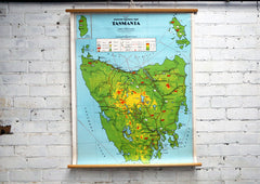 Vintage School Map - Tasmania