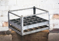 Vintage Metal Bottle Crate
