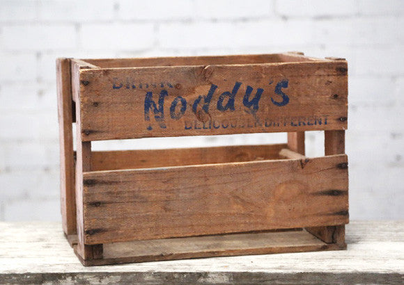 Vintage Noddys Timber Crate
