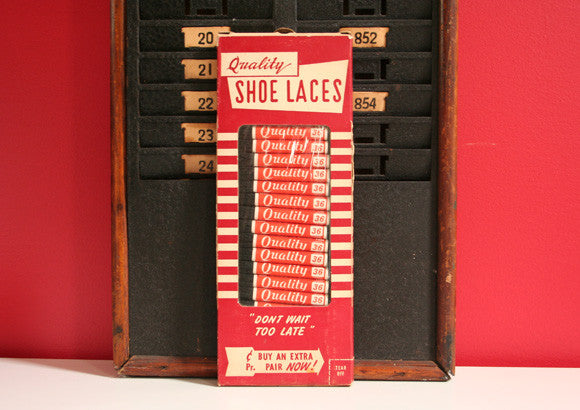 Vintage Shoes Laces Packaging and Laces