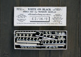 Vintage White on Black Price Tag Set