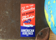 Vintage American Airlines Luggage Tag/Sticker