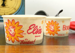 Vintage Borden's Elsie Ice Cream Cup