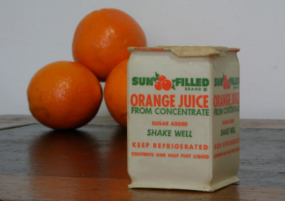 Vintage Orange Juice Carton