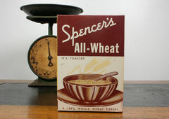 Vintage All Wheat Cereal Box
