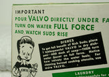 Vintage Valvo Washing Powder Box