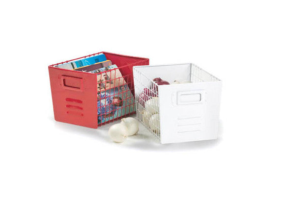 Locker Wire Storage Basket - White