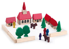 Wooden Playing Blocks - Village Set