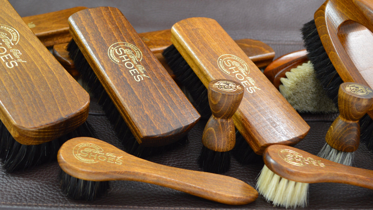 A Fine Pair Of Shoes Ltd AFPOS Our range of premium horsehair and goat hair shoe brushes custom made in Germany