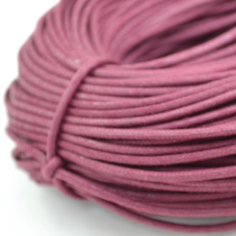 2.5mm Coloured Waxed Round Casual Shoe Laces