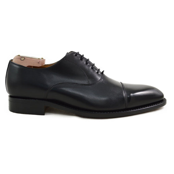 Berwick 1707 Straight Cap Oxford - Black