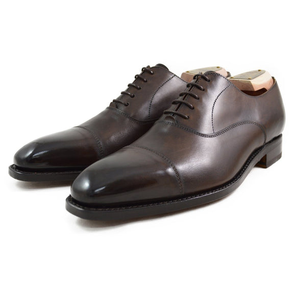 Berwick 1707 Straight Cap Oxford - Dark Brown