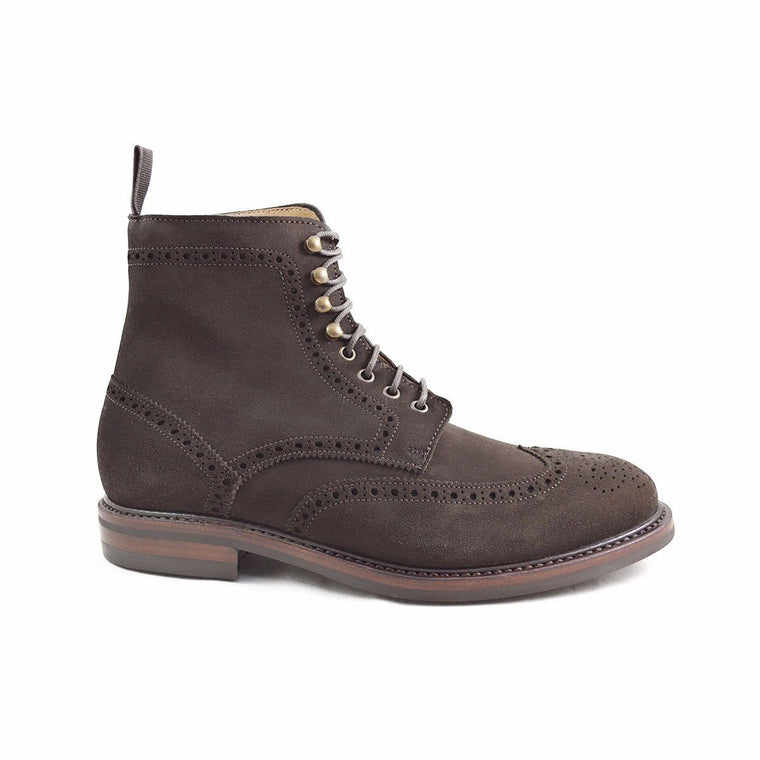 Berwick 1707 Suede Brogue Boot - 8F