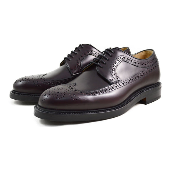 Berwick 1707 Long Wing Burgundy Brogue - 8F