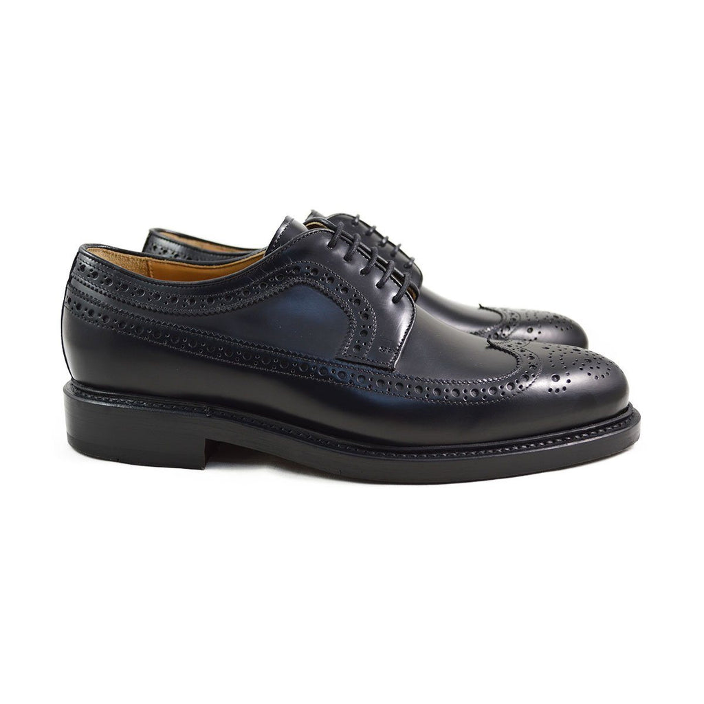 Berwick 1707 Long Wing Black Brogue - 8F