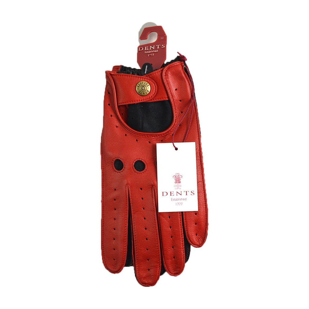 DENTS WAVERLEY Unlined Leather Driving Gloves - Berry