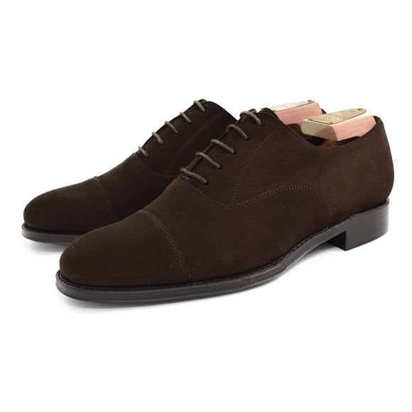 Berwick 1707 Oxford - Dark Brown Suede
