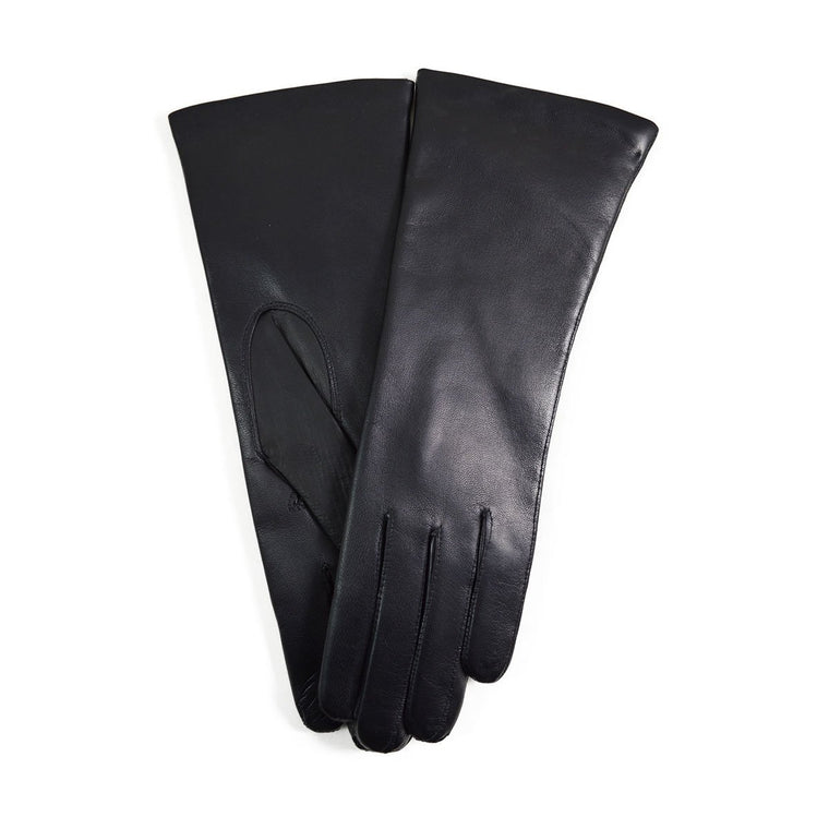 DENTS Womens HELENE Cashmere Lined Leather Gloves - BLACK