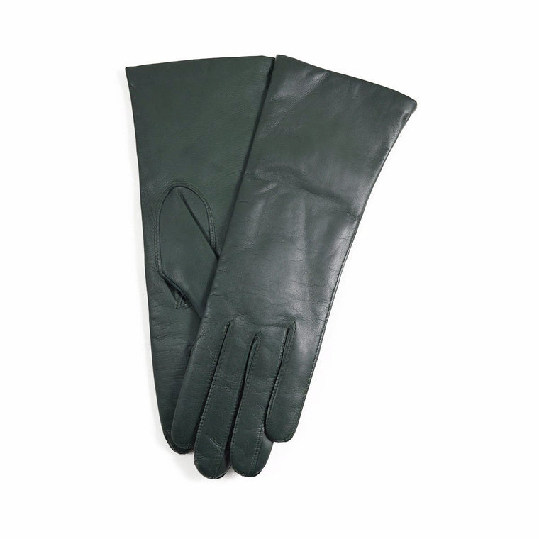 DENTS Womens HELENE Cashmere Lined Leather Gloves - EVERGREEN