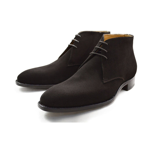Carlos Santos Chukka Boot in Dark Brown Suede