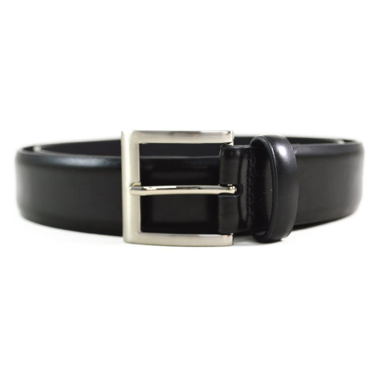 DENTS Plain Leather Belt - Black