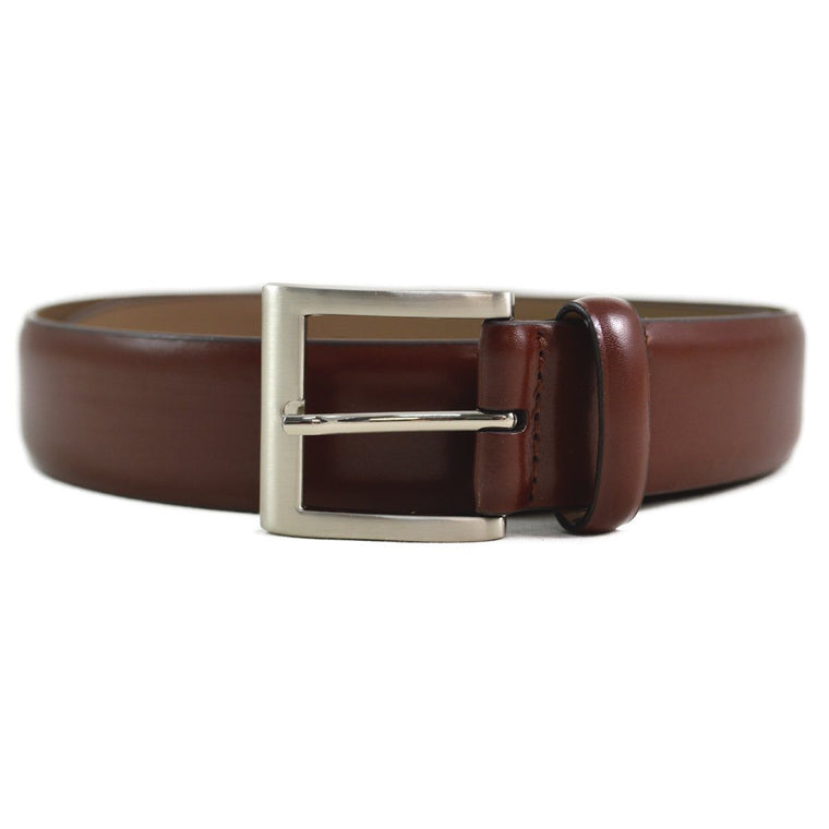DENTS Plain Leather Belt - Tan