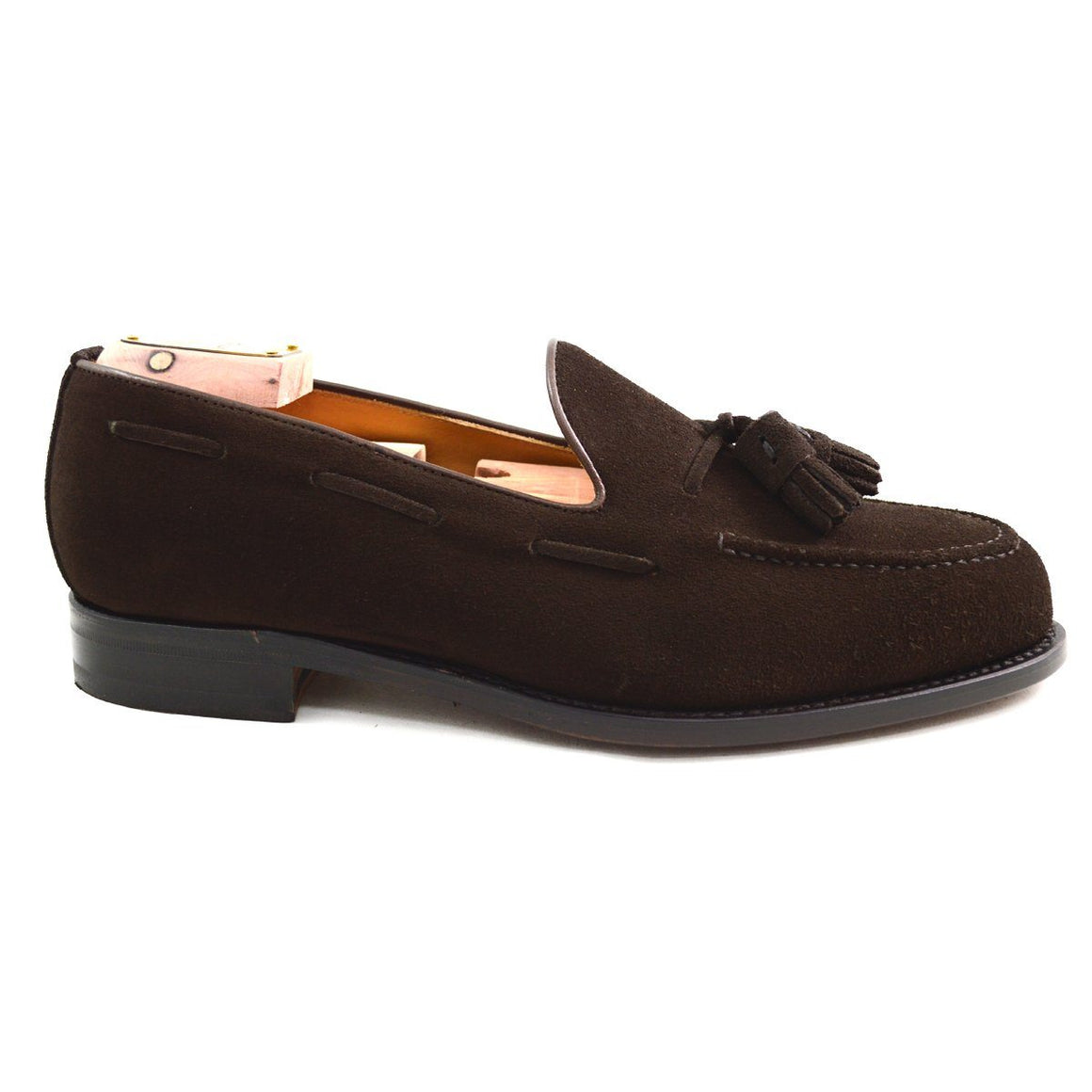 Berwick 1707 Tasselled Slip On - Dark Brown Suede