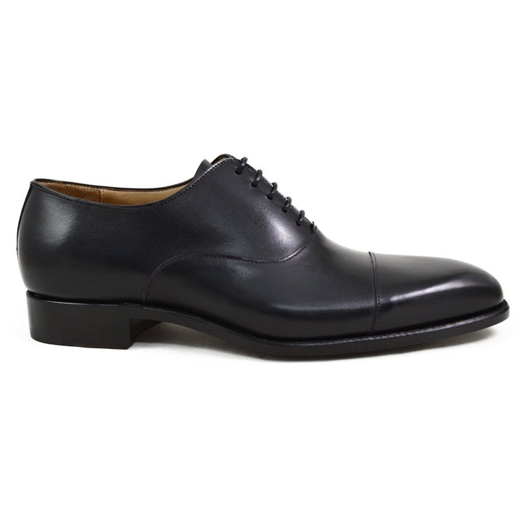 Carlos Santos Oxford in Black Calf