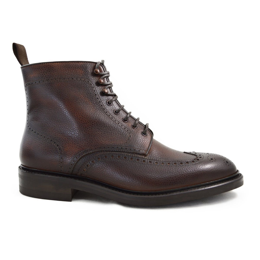 Carlos Santos Brogue Boot in Guimaraes Grain