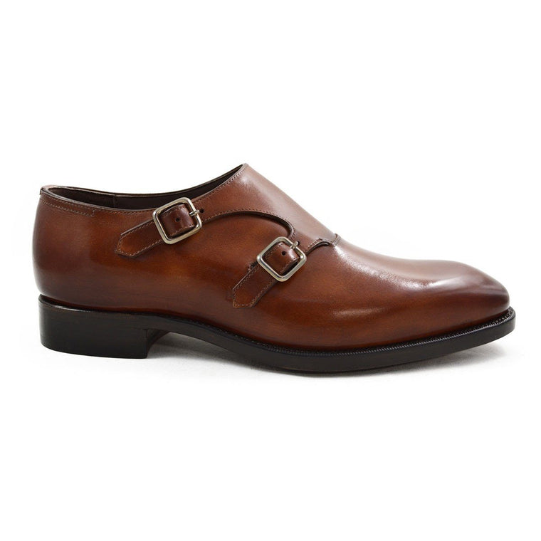 Carlos Santos Handgrade Double Monk in Marron Calf