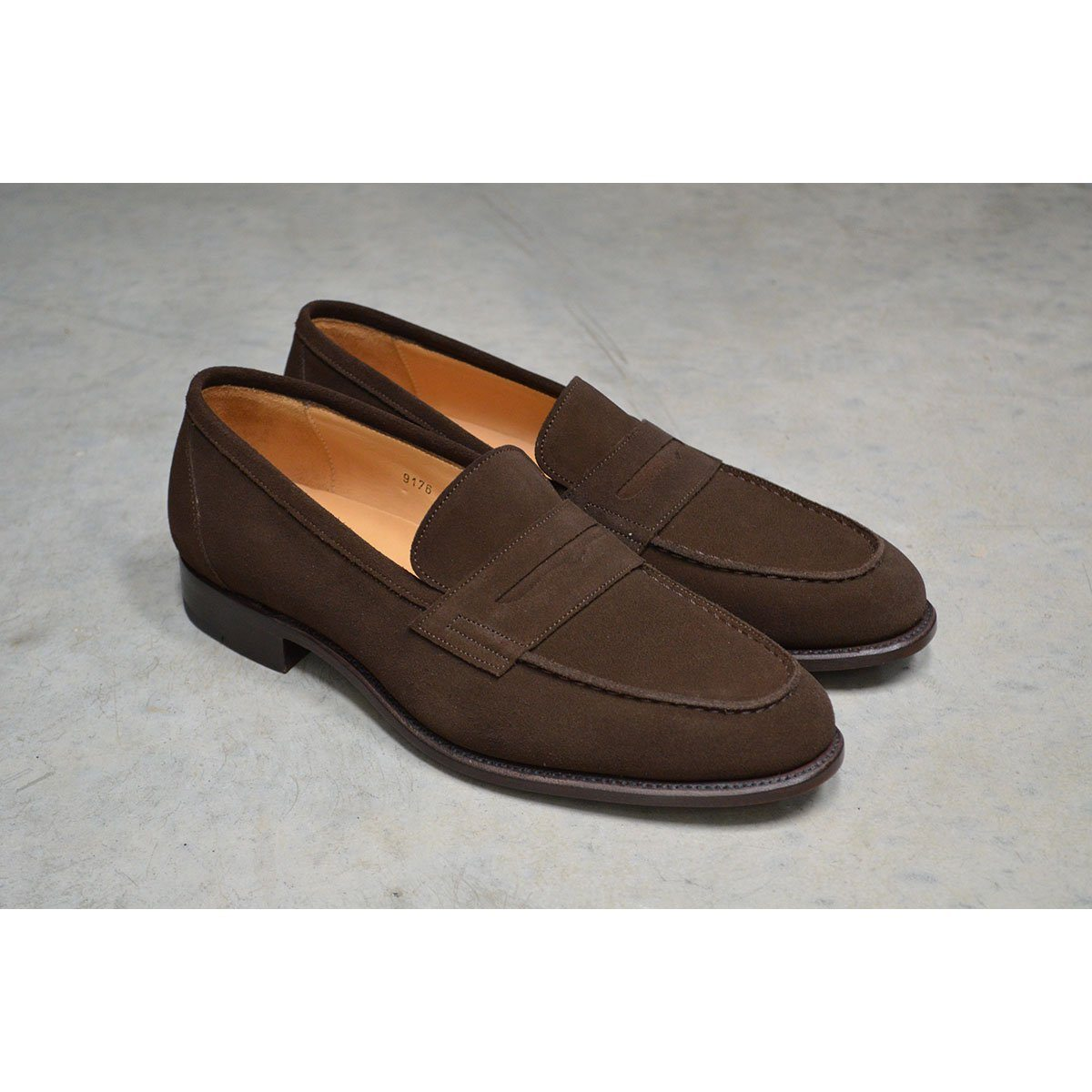 10d2b3ad7e2b Carlos Santos Penny Loafer in Dark Brown Suede - A Fine Pair of ...