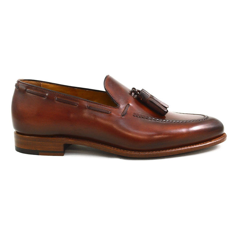 Carlos Santos Tasselled Loafer in Bairrada Patina
