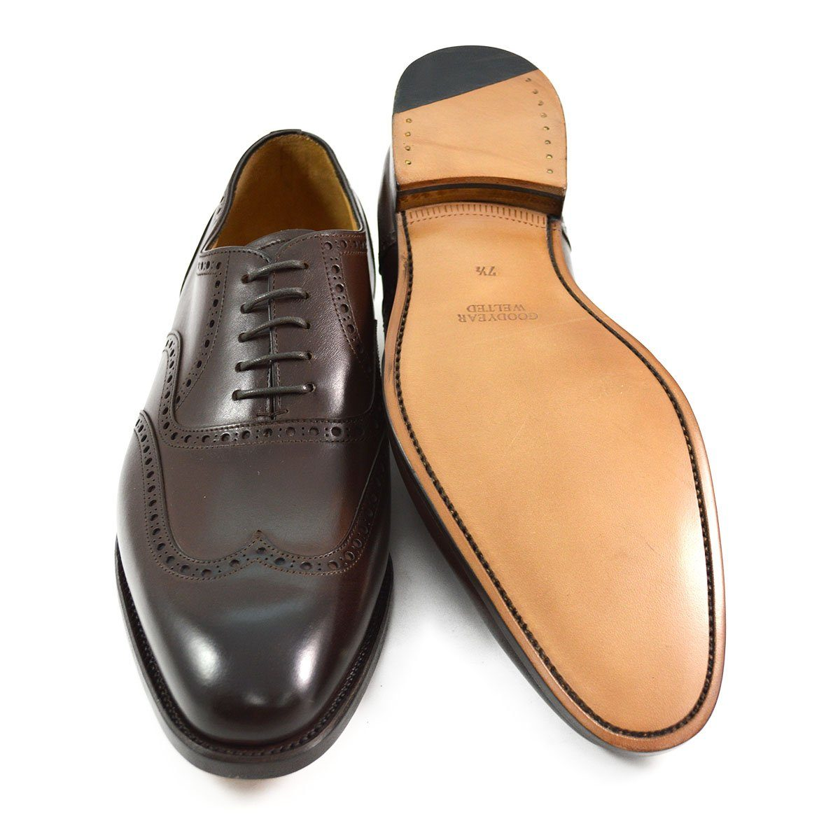 d535e857f847 AFPOS HARRY Brogue in Dark Brown Calf - A Fine Pair of Shoes - English  Handmade Shoes and Brogues Online
