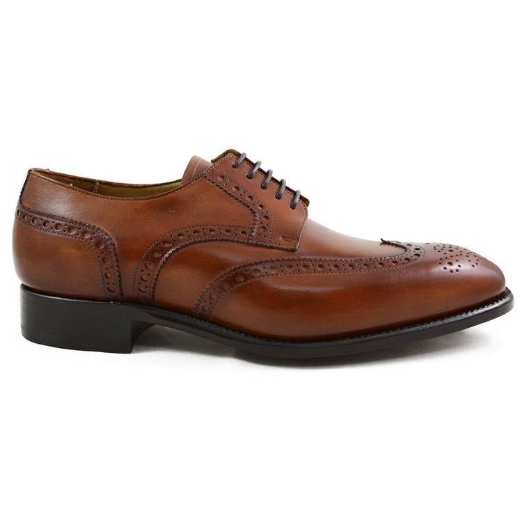 Carlos Santos Wingtip Derby Brogue in Braga Patina