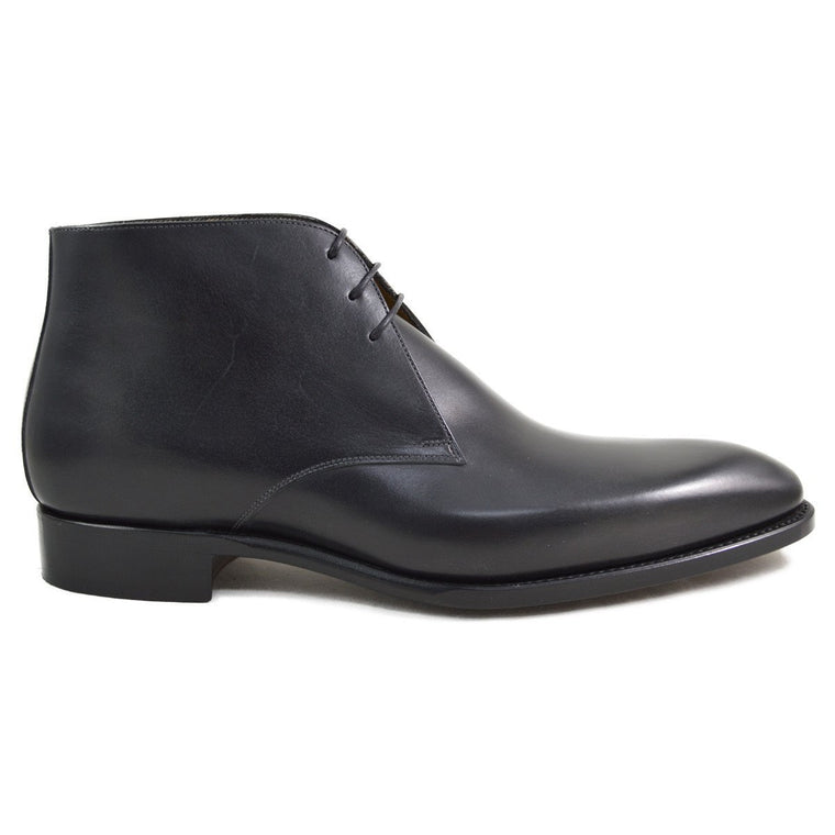 Carlos Santos Chukka Boot in Noir Patina