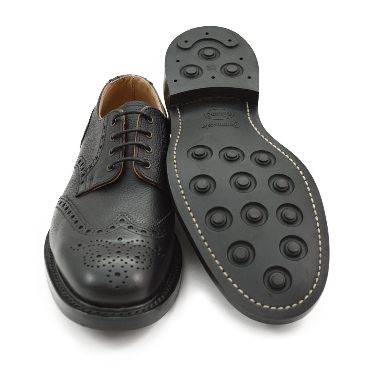 Nps Wilson Gibson Brogue Shoes Black Grain With Dainite