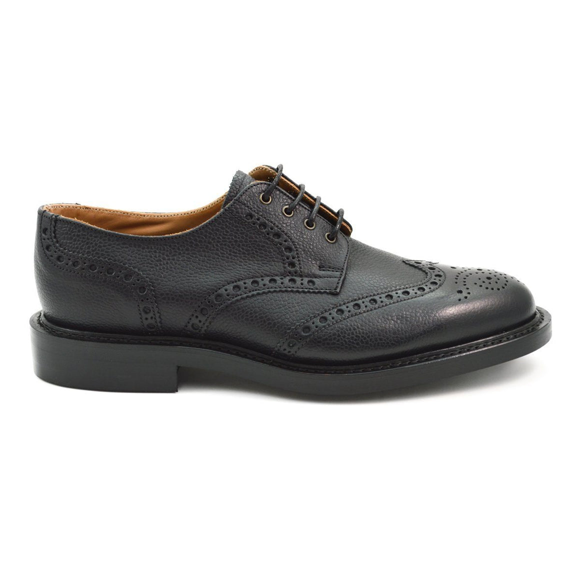 NPS WILSON Gibson Brogue Shoes - Black Grain with Dainite Sole