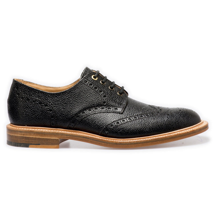 NPS WILSON Gibson Brogue Shoes - Black Grain