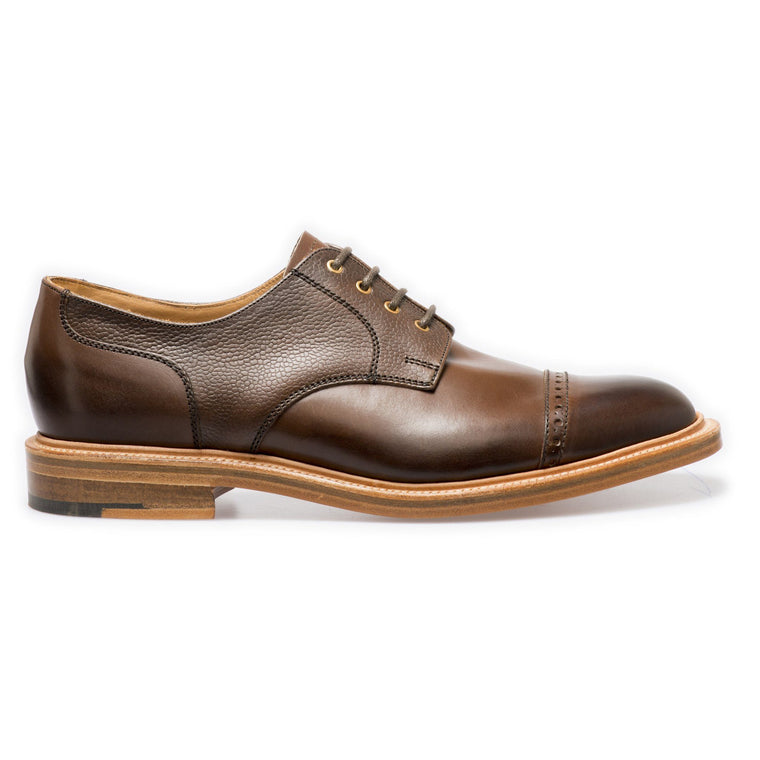 NPS SALISBURY Derby Straight Cap Shoes - Walnut Grain